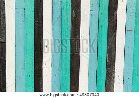 Blue, White, Black Contrasting Old Wooden Texture Background