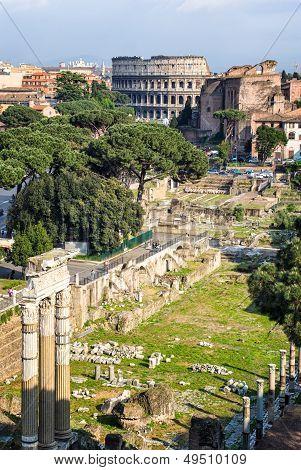 The Forum Romanum In Rome