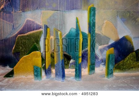 Colorful Ice Sculpture