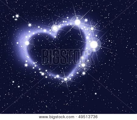Stars Form A Heart