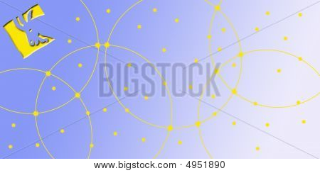 Card In Landscape Format With Sign Of The Zodiac - Capricorn, Ibex