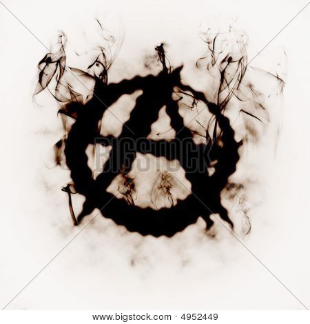 Illustration Of The Anarchy Sign In The Smoke