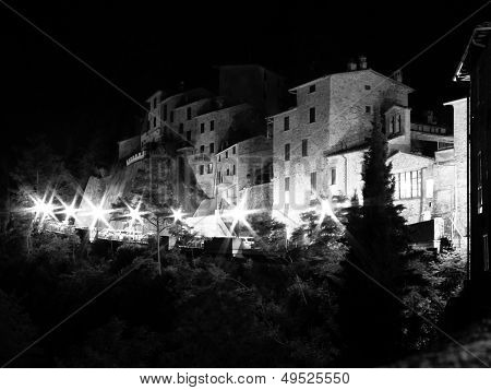 Montone in Umbria at night