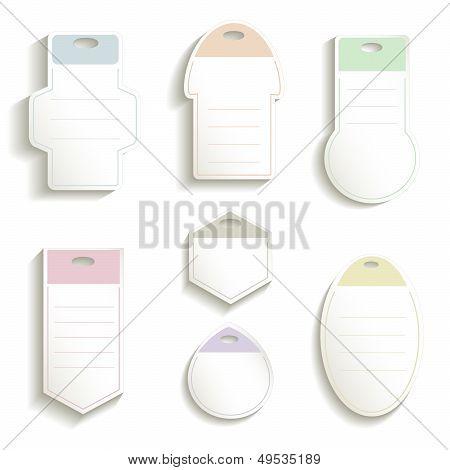 Label paper 3D color vector ticket card