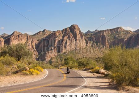 Motorcycle Through Arizona