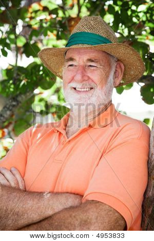 Happy Relaxed Senior Man