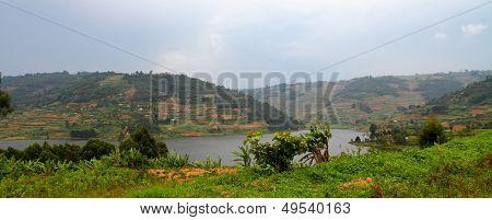 Hills Of Lake Bunyoni In Uganda