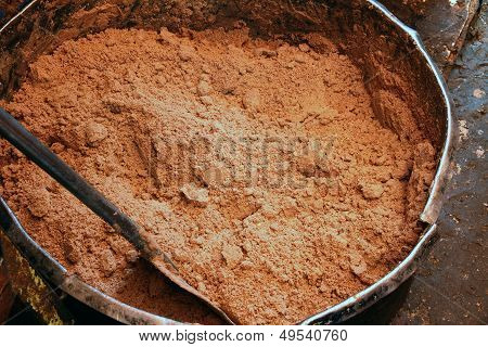 Raw Peanut Butter Before Oil