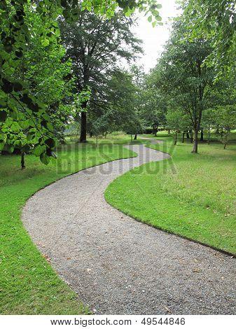 Curving Garden Pathway