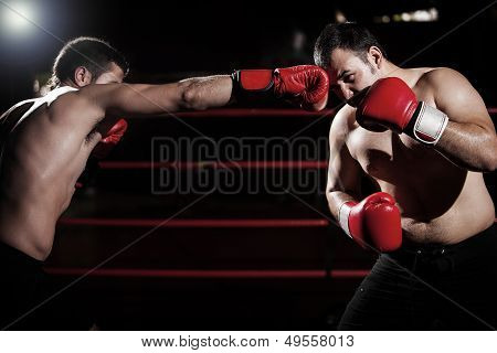 Throwing some jabs at an opponent