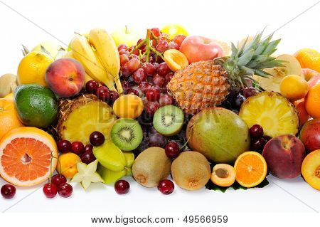 fresh various fruits