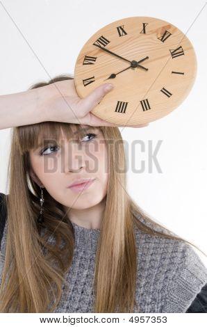 Pretty Female Model With Watch