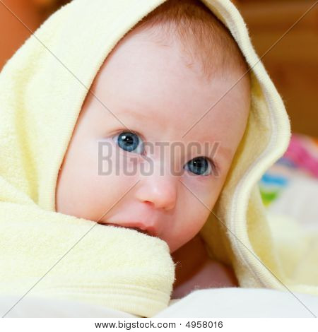 Infant Under Towel