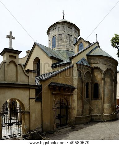 Armenian Cathedral in Lemberg (Lviv)Ukraine.Historical city center of Lvov listed ais UNESCO World H