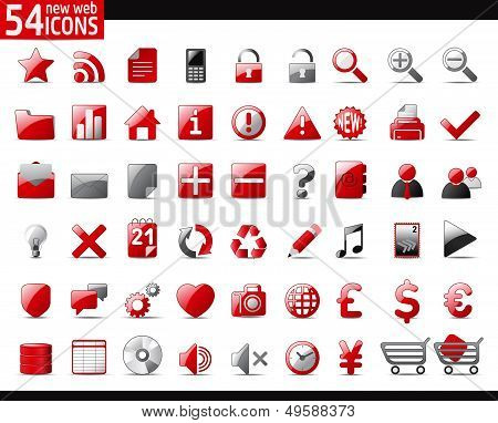 Red Web Icons