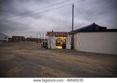 UK Amusement arcade in seaside town