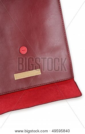 Red Leather Envelope Case