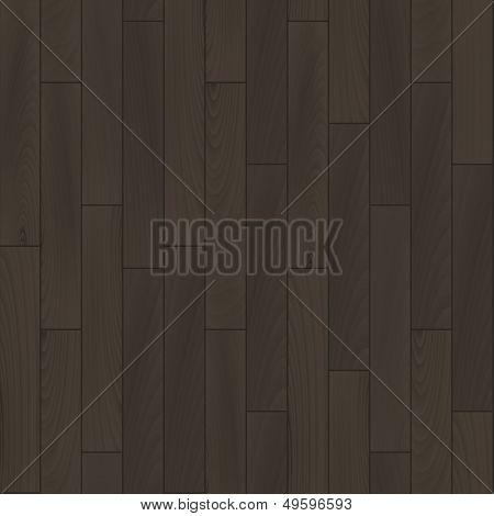 Realistic dark grey wooden floor seamless pattern, vector