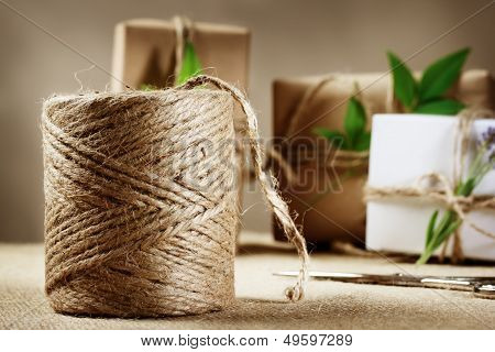 Hemp Cord Spool With Gift Box