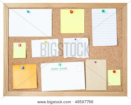 Blank Messages On Noticeboard