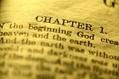 stock photo of biblical  - Close up of old Holy bible book - JPG