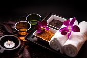 picture of curcuma  - Coffee and Turmeric Scrub for beauty treatment in spa - JPG