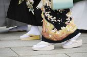 stock photo of kanto  - Japanese Women in Traditional Dress at Meiji Shrine - JPG