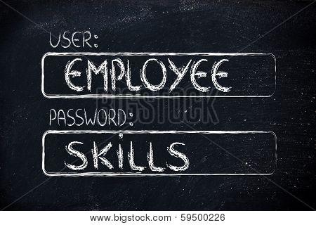 User Employee, Password Skills