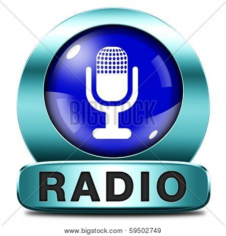 radio listen to live stream audio on air music song audio or radio blue button or icon