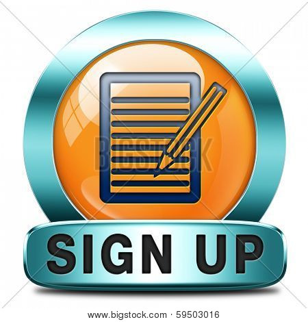 sign up or apply now orange icon and subscribe here for membership. Fill in application form.