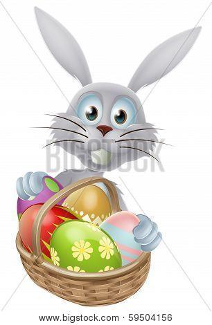 Eggs Basket Easter Bunny Rabbit