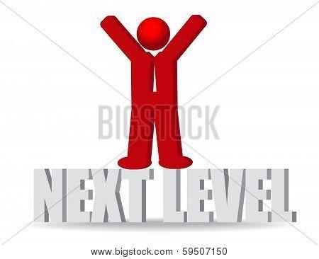 Business Man, Person. Next Level. Progress Concept.