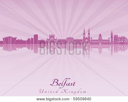 Belfast Skyline In Purple Radiant Orchid