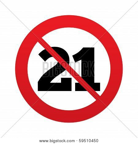 No 21 years old sign. Adults content.