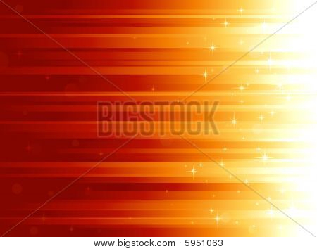 Light dots and stars on horizontally striped background