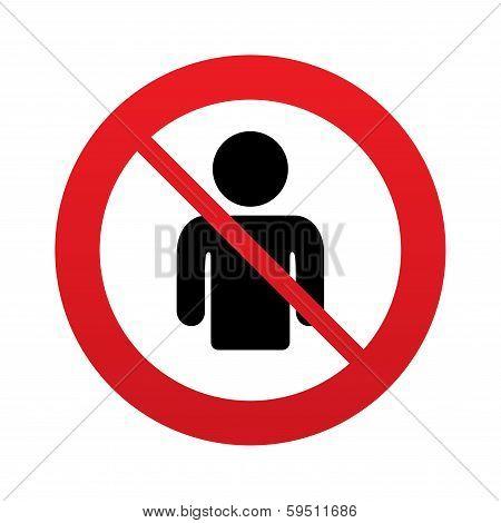No User sign icon. Person symbol.