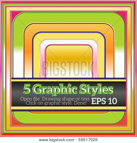 Set of Colorful Graphic styles for Various Design.