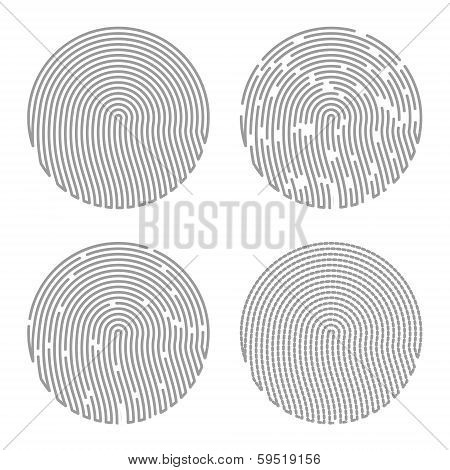 Black Isolated Fingerprint