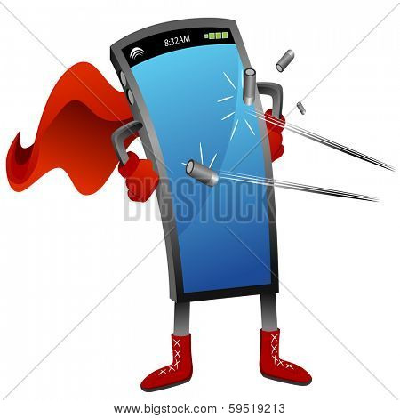 An image of a bullet proof super smartphone.