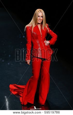 NEW YORK-FEB 6: Joan van Ark wears Mark Zunino on the runway at The Heart Truth Red Dress Collection show during Mercedes-Benz Fashion Week at Lincoln Center on February 6, 2014 in New York City.