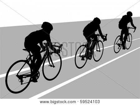 People group of cyclists in sport competition