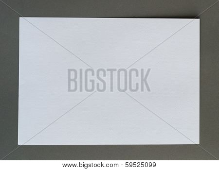 White Crumpled Paper On Gray Background Horizonta