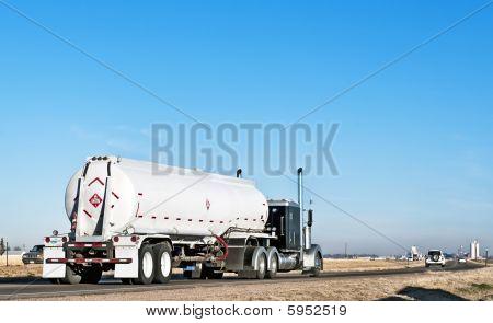 Independent Trucker Hauling Fuel