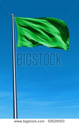 Libya flag waving on the wind
