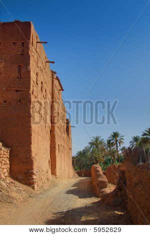 Sandy Path Along A Morrocan Country House