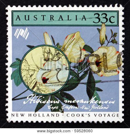 Postage Stamp Australia 1986 Hibiscus Merankensis, Flower