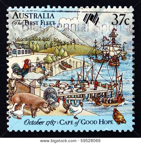 Postage Stamp Australia 1987 First Fleet At Cape Of Good Hope