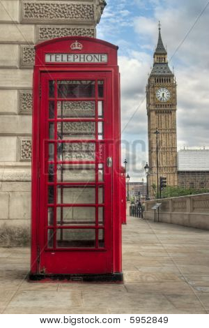 Big Ben And Telephone Booth
