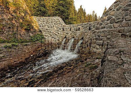 Dam on a stream