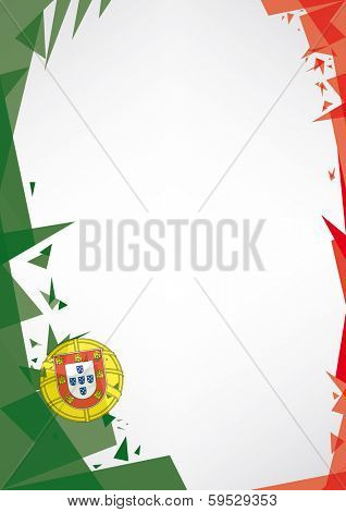background origami of Portugal. a design background (Origami style) for a very nice poster